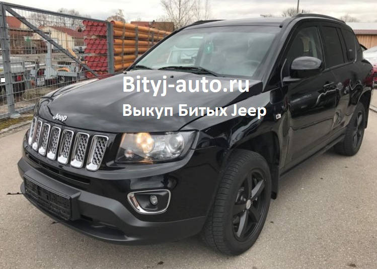 На фото: Jeep Compass Limited после дтп